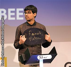 National Geographic GeoBee Champion - Nihar Janga