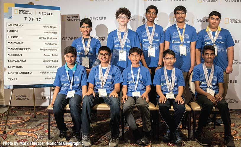 Florida's Kaylan Patel Places in Top 10 at 2019 National Geographic GeoBee