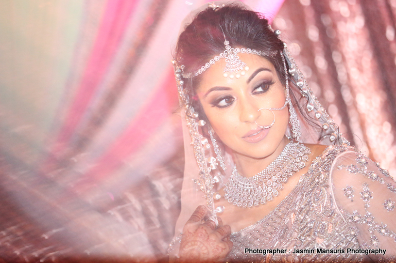 Indian bride looking dazzling