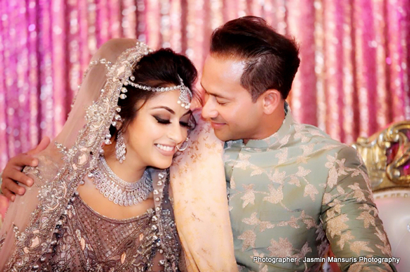 Indian Bride and Indian groom looking spectacular