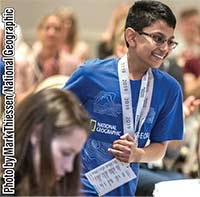 Kaylan Patel won back-to-back championships in 2019 and 2018 previously in the Florida State Geographic Bee