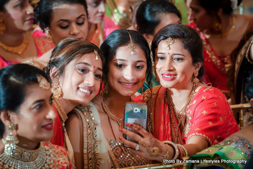Family Members Taking Selfie