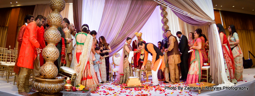 Indian Couple at the ceremony