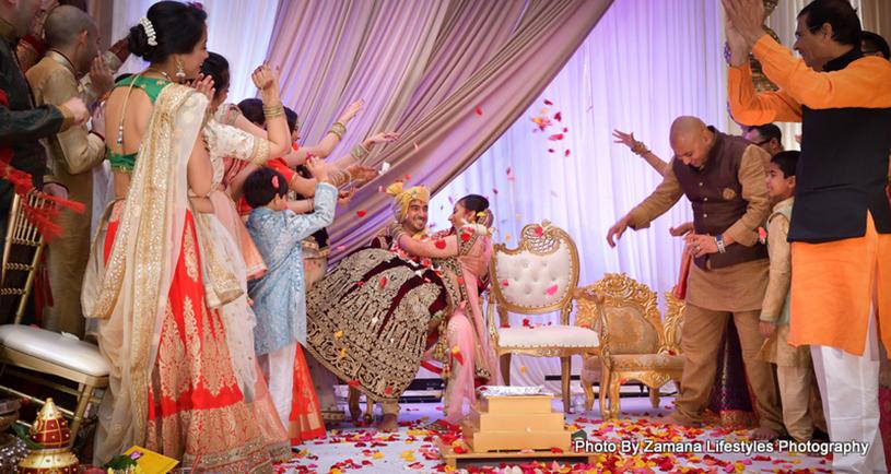 Enjoying the wedding Ceremony