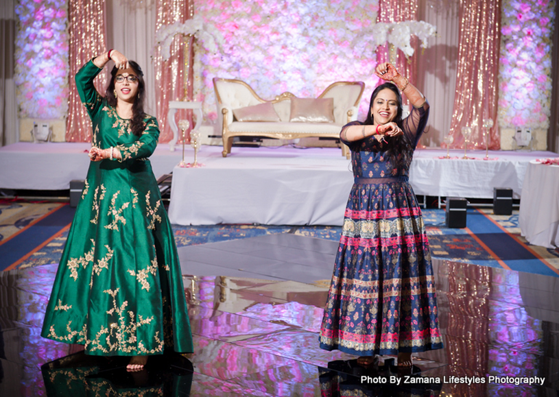 Friends Performing at the wedding sangeet