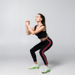 Squat - This exercise focuses on the muscles of the lower body
