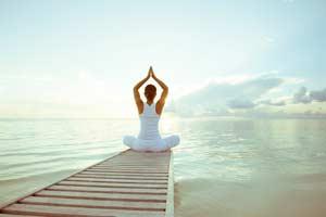 yoga teaches us about santosa, contentment