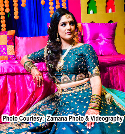 Blue Color Outfit Forn Indian Bride