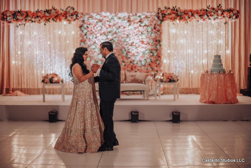 Wonderful Decor At Indian Wedding Reception by Nikun Events