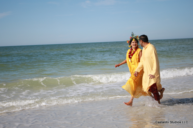 Indian Couple Holding hands and giving Pose