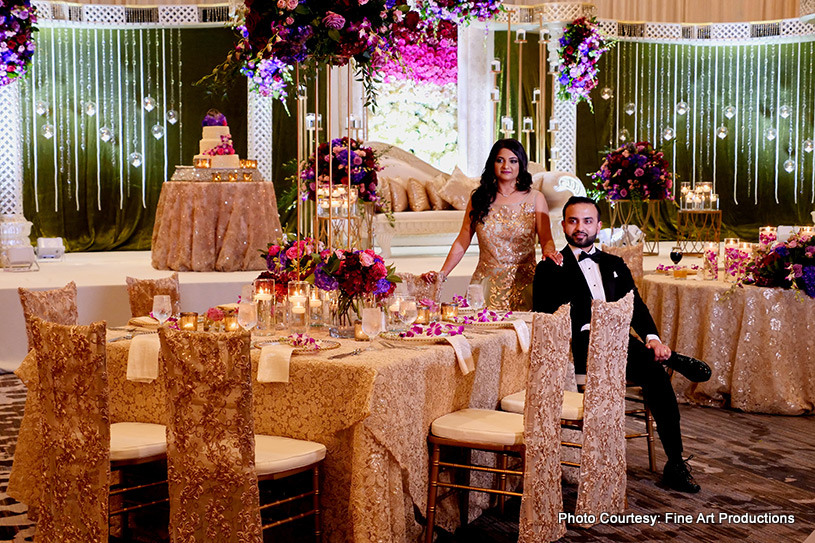 Gorgeous Table Decor at Indian Wedding