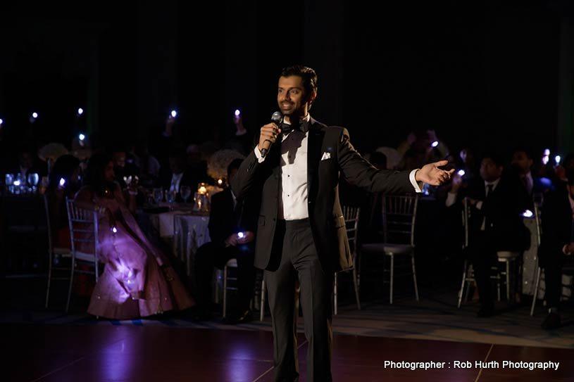 Indian Groom Giving Wedding Speech