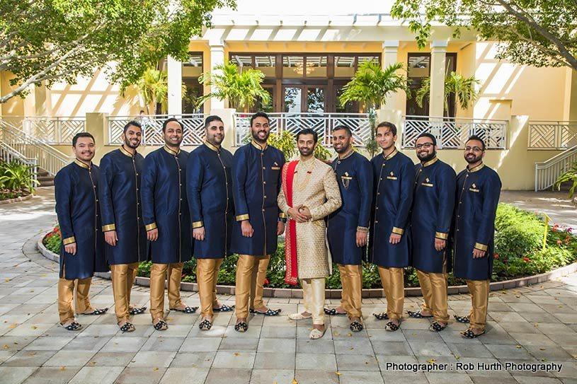 indian Groom with groomsmens