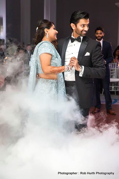 Indian Wedding Couple Dancing