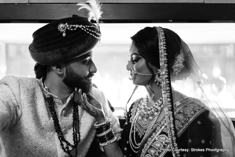 Indian Couple looking in each other's Eyes