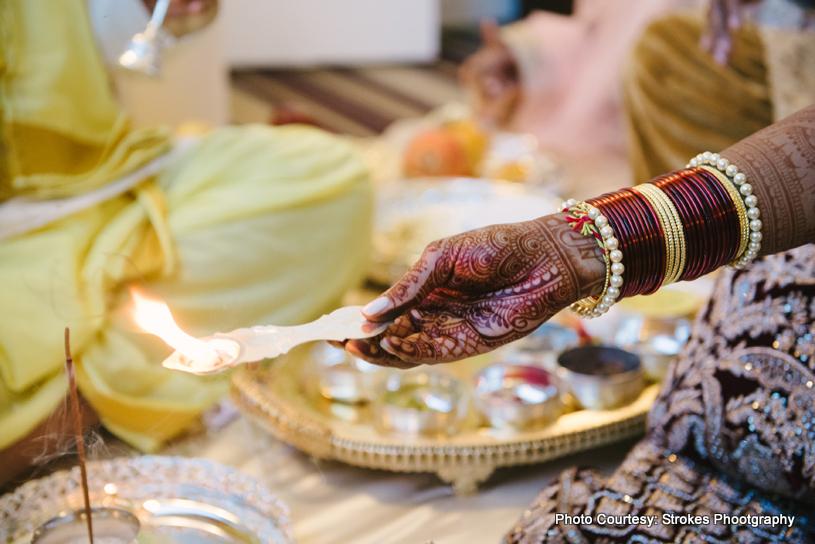 Indian Bride doing wedding rituals