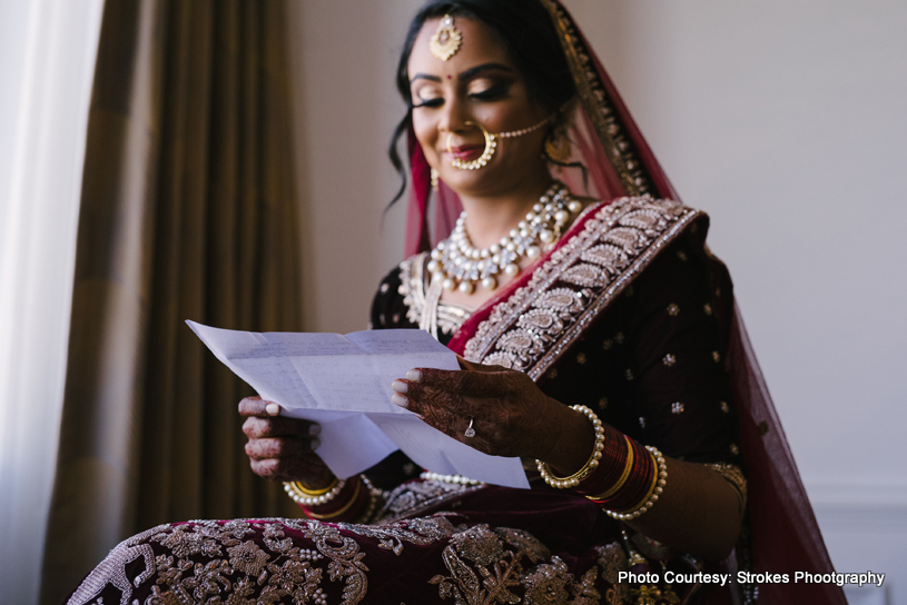 Indian bride Posing for a photo