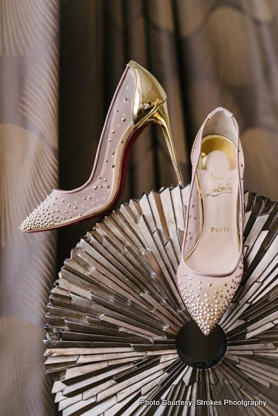 Wedding foot-ware of Indian bride