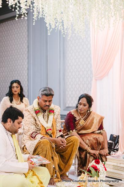 Priest Prasad Bhat Doing Indian wedding Rituals