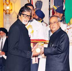 Amithabh Bachchan has been recognized with India's highest film honor, the Dadasaheb Phalke Award.