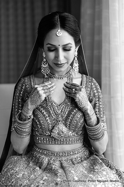 Monochrome Look of Indian Bride