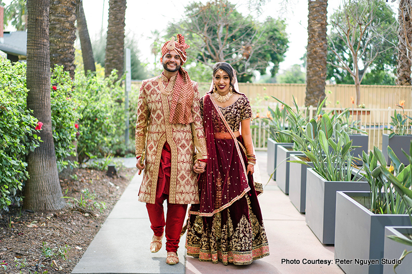 Gorgeous Capture of Indian Couple Outdoors by Peter Nguyen Studio