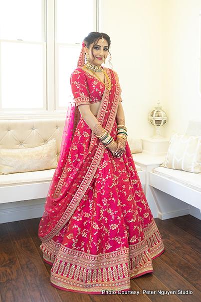 Indian bride posing