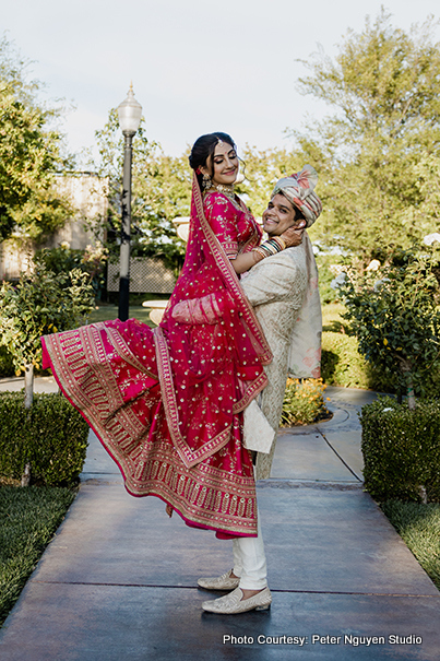 Indian Couple Posing for a photo