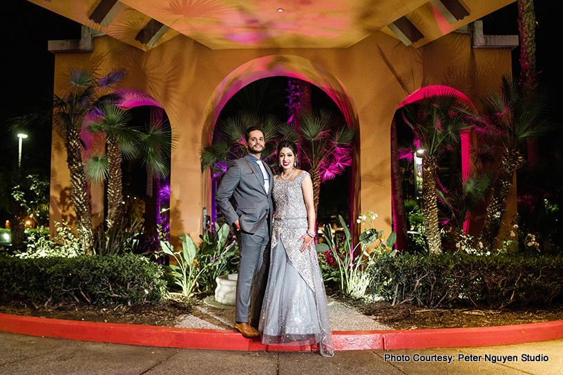 Gorgeous Indian Wedding Couple Posing