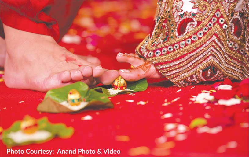 important rituals in Hindu weddings are the Mangal Pheras and Saptapadi