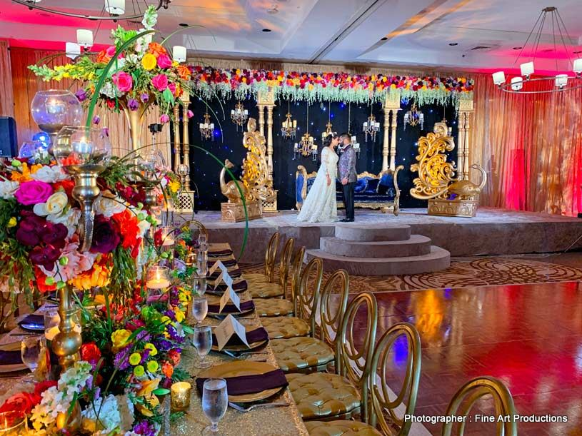 Wedding decor at indian reception