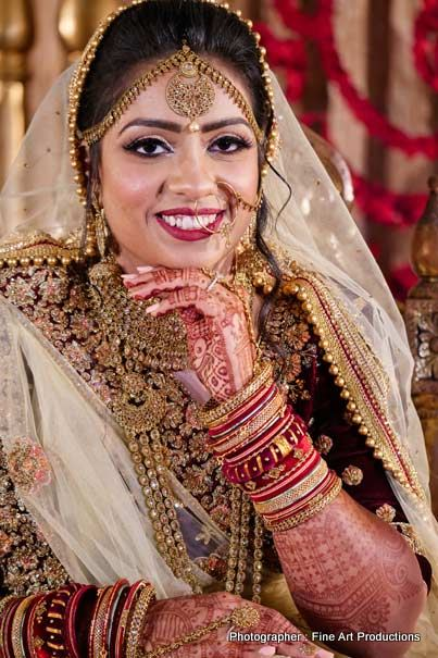 Portrait image of indian bride