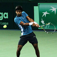 Indian Tennis Player Sumit Nagal In Action During Ftr Img