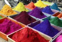 The rangoli powder can be purchased at Indian stores