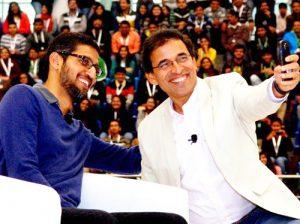 Harsha Bhogle & Sundar Pichai