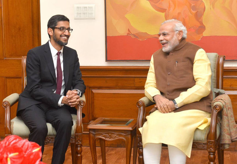 Narendra Modi & Sundar Pichai