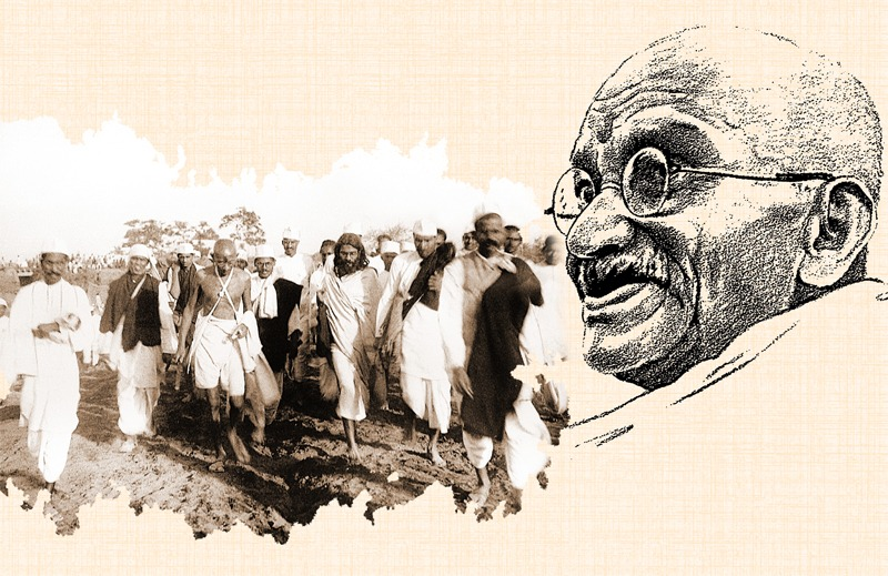 Mohandas K. Gandhi – commonly known by the honorific Mahatma