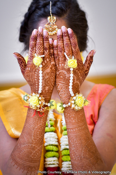 gorgeous mehndi of Indian Bride