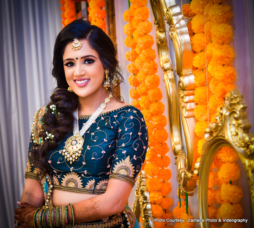 Cute Indian Bride Posing For a photo