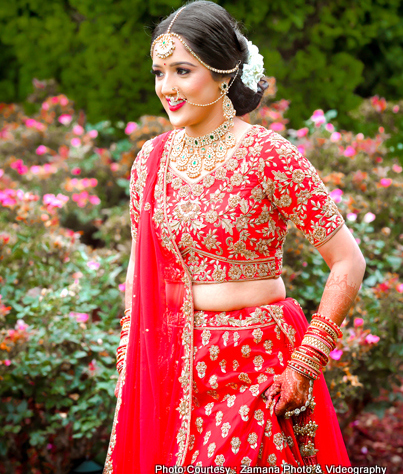 Gorgeous Floral Jewelry of Indian Bride