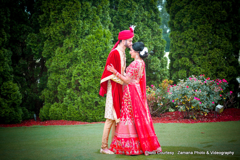 Amazing indian bride and groom photo