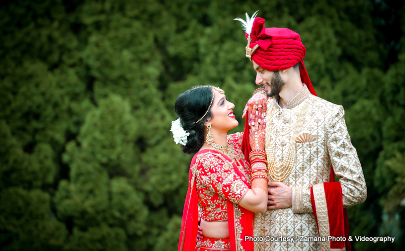 Anu weds Darshan Indian wedding at Gujarat Cultural Association Photographed Zamana Lifestyles Photography & Videography