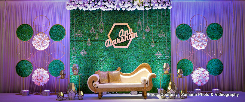 Marvelous Indian wedding flowers and lights decoration