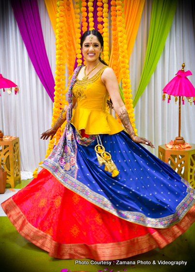 Vibrant indian bride capture