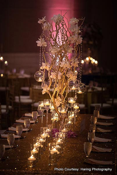 Lovely table decor by Suhaag Gardens