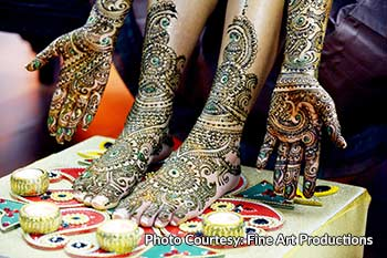 Bridal mehndi requires more time and precision
