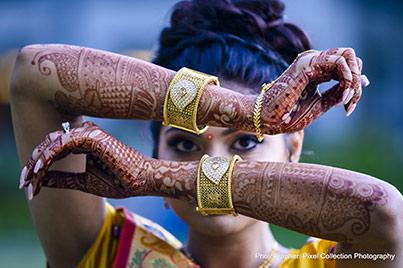 Indian Bride Mehndi Art