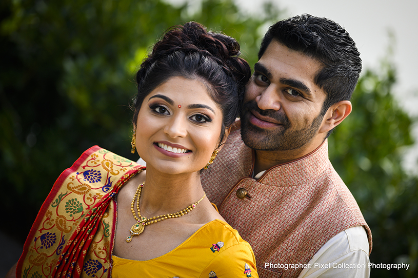Charming indian couple photo session