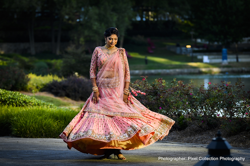 Dazzling indian bride outdoor photo session
