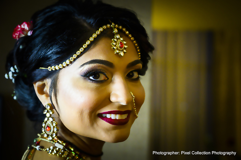 Marvelous indian bride makeup and accessories